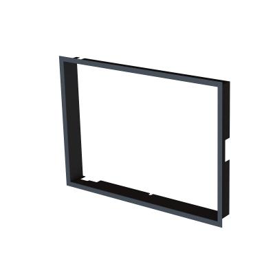 Einbaurahmen 1x90° schwarz- BeF Aquatic WH (V) 60