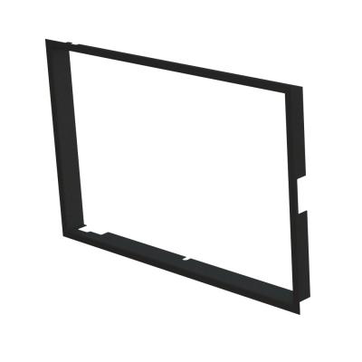 Einbaurahmen 1x90° schwarz, 60 mm BeF Twin (V) 10